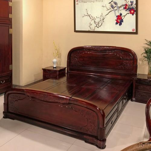 红木床仿古红木家具卧室中式1.5双人床13