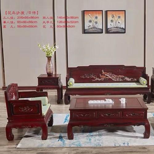 中式仿古红木罗汉床沙发组合定制 12