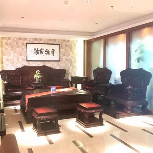 明清古典实木沙发批发价格 红木雕刻沙发生产厂家13