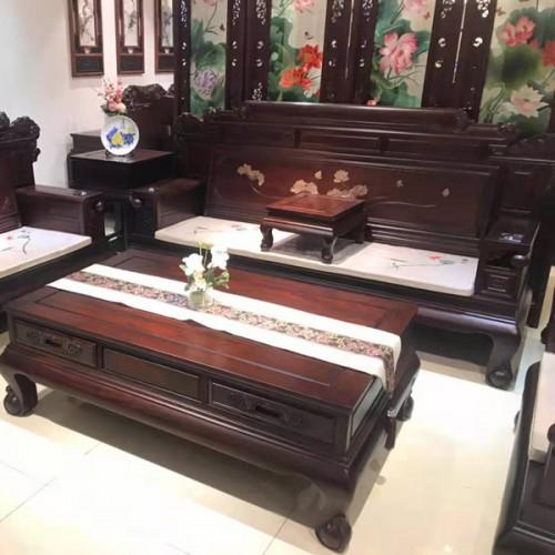 红木仿古沙发图片 中式实木沙发品牌14