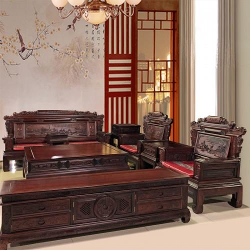 明清古典红木沙发客厅家具组合 13