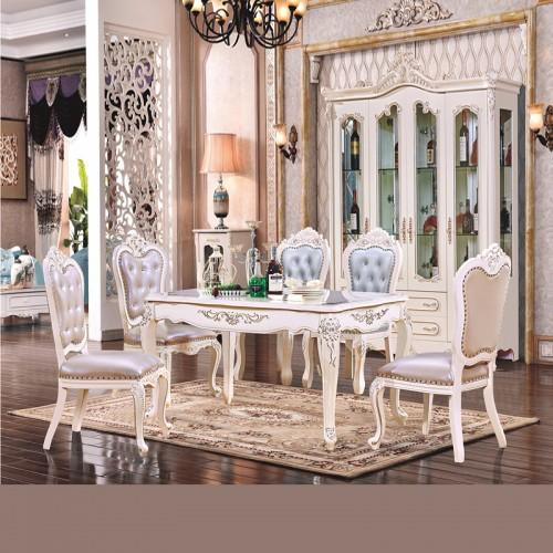 香河欧诺雅家具 欧式餐桌椅组合长方形饭桌102