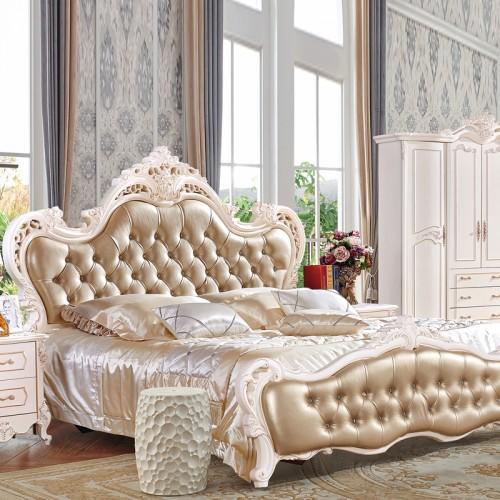 欧式雕花双人床实木大床套房定制 106