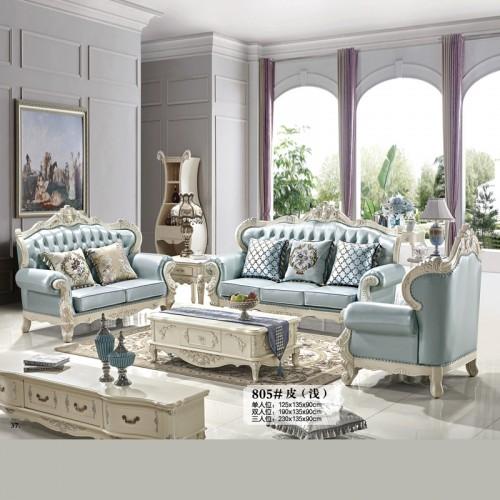 香河欧诺雅真皮沙发 欧式组合沙发厂家 805#