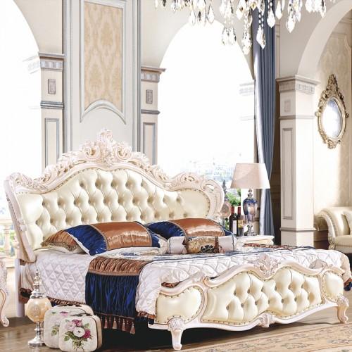 欧式双人床销售厂家 批发欧式套房家具 1021