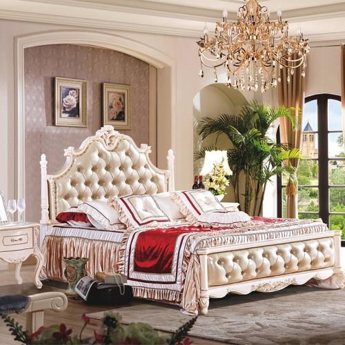 豪华欧式双人床衣柜组合 套房家具生产厂家 1022