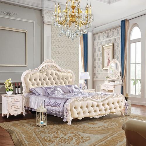双人床婚床卧室套房家具批发价格 1023