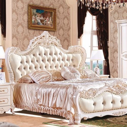 卧室豪华套房家具生产厂家 欧式双人床套房家具 1026