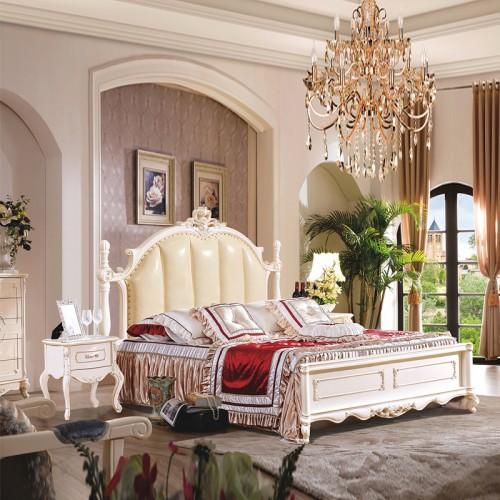 高端欧式奢华卧室双人床婚床批发价格 1029