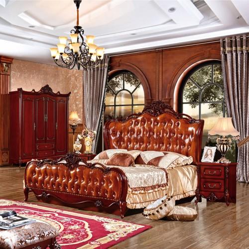 豪华大户型卧室欧式双人床套房家具 SS902