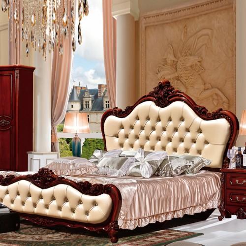 厂家定制别墅大户型卧室衣柜双人床套房 SS1035