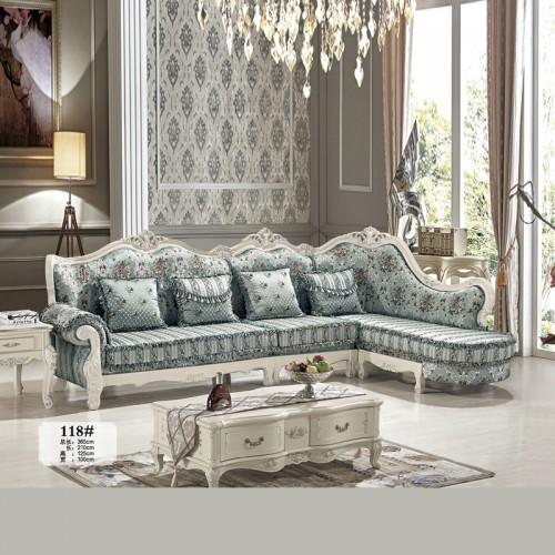 欧式布艺沙发 客厅休闲沙发 118#