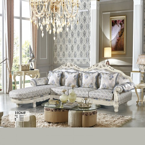 欧式客厅布艺转角沙发特价促销 1026#