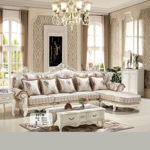 欧式客厅沙发 布艺沙发生产厂家 107#