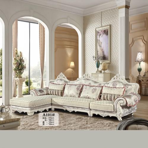 欧式客厅雕花布艺沙发批发价格 A101#