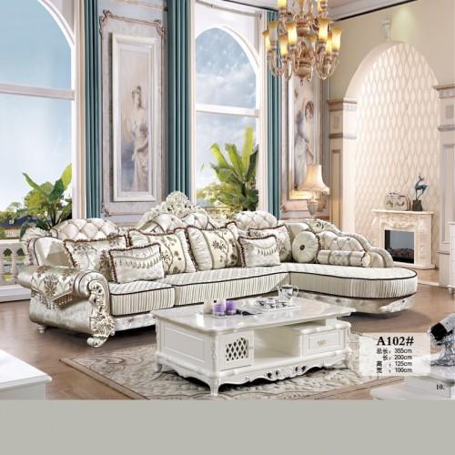 布艺转角沙发 欧式客厅沙发生产厂家 A102#