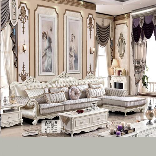 厂家直销布艺转角沙发 欧式客厅沙发 A105#