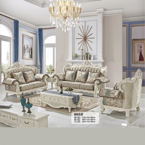别墅大户型豪华客厅沙发 欧式布艺沙发 805#