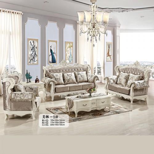 欧式奢华布艺客厅沙发香河供应商 美林-1#