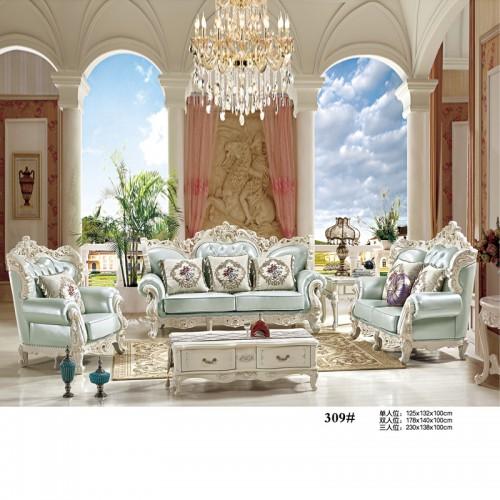 高端别墅客厅休闲沙发 欧式沙发生产厂家 309#