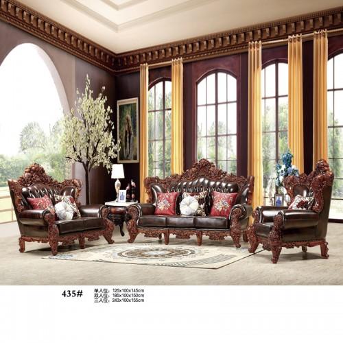 别墅沙发客厅整装欧式真皮沙发采购价格435#
