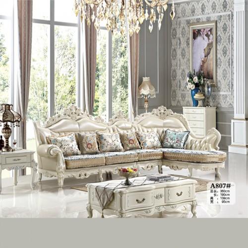 客厅家具 欧式转角沙发皮布沙发批发市场A807#