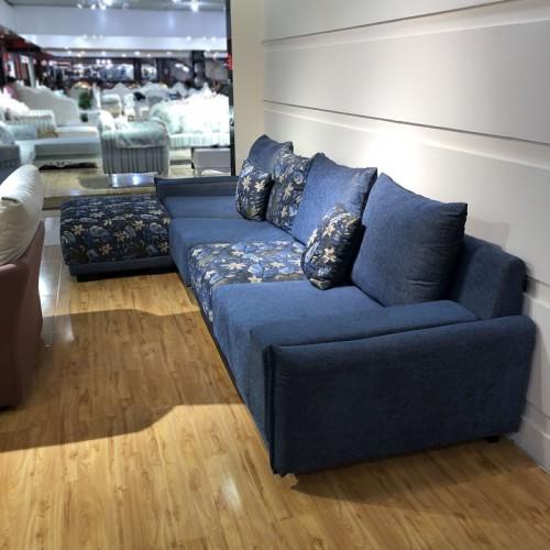 休闲布艺沙发批发 客厅转角沙发定制价格1004#