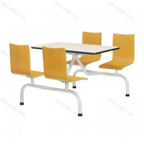 四人位快餐店餐桌椅组合 JY-CZY-07#