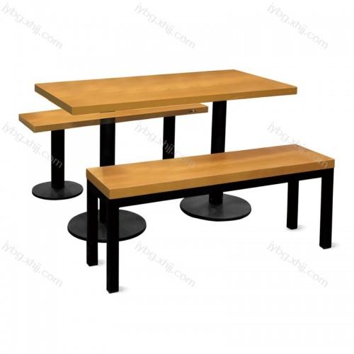 公司学校食堂连体餐桌小吃快餐店桌椅 JY-CZY-19#