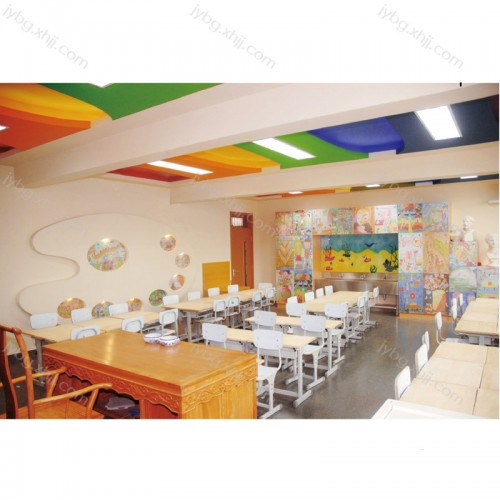 中小学生培训教室学习桌椅厂家批发 JY-KZY-23#