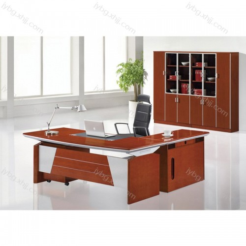 时尚现代油漆班台老板办公桌定制JY-BT-15