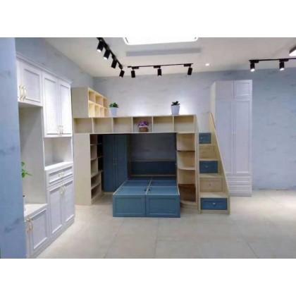 北京百家邦全铝定制儿童房榻榻米书柜一体式家具