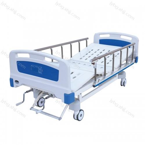 ABS床头铝合金护栏中控手动双摇护理床JY-YLC-18