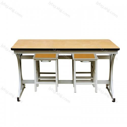学校食堂公司员工四人位挂凳餐桌椅 JY-CZY-13#