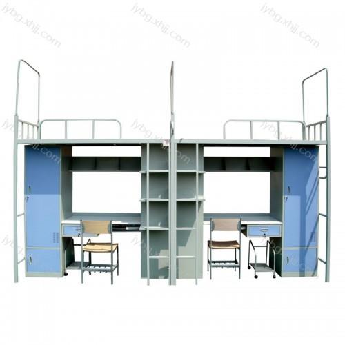 直销大学生宿舍公寓床职工上床下桌衣柜JY-GYC-02
