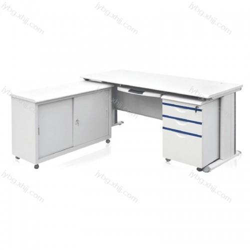 厂家直销钢制办公桌 L型电脑桌 JY-DNZ-04