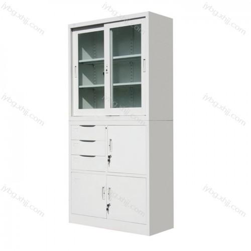 偏三屉移门柜文件柜供应厂家JY-BM-12