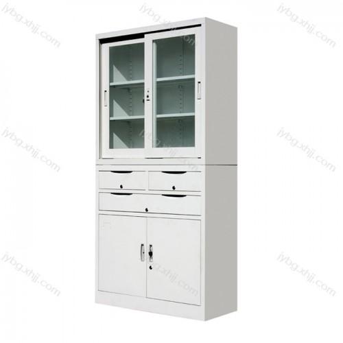 分体三屉移门柜文件柜生产厂家JY-BM-10