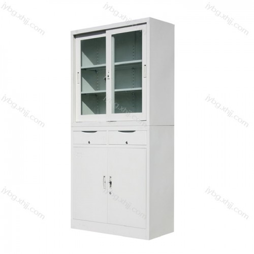 分体二屉移门柜文件柜生产定制JY-BM-09