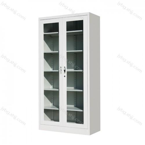 通体玻璃平开文件柜资料柜JY-BM-01