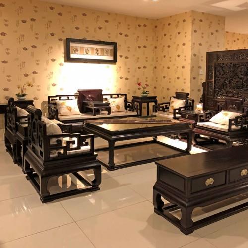 新中式禅意实木沙发 别墅客厅红木沙发可定制05