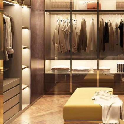 全铝定制家居 全铝衣橱轻奢极简系列