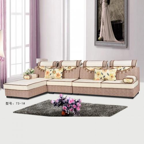 客厅家具厂家 时尚环保转角沙发家具73-1#