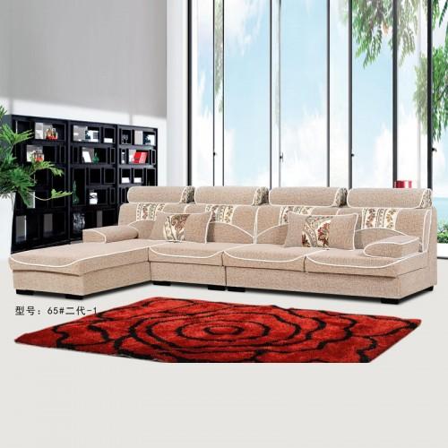 现代简约客厅转角贵妃L型沙发定制65#二代-1