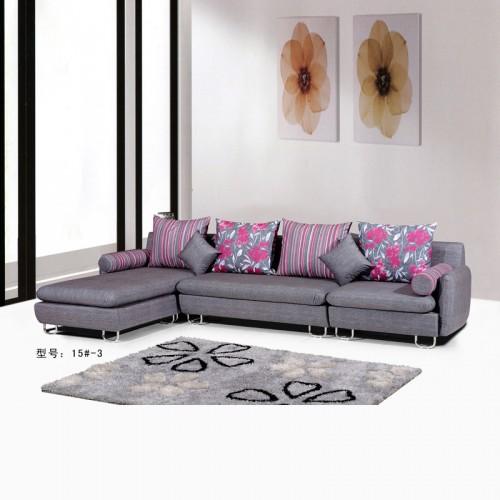 时尚现代客厅布艺转角沙发 15#-3