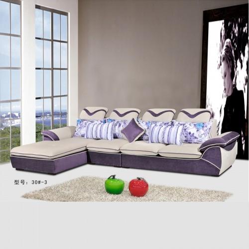 贵妃布艺沙发厂家直销转角现代沙发实惠价格30#-3