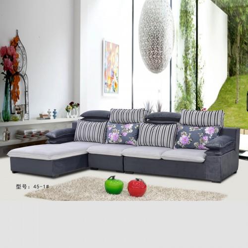 批发采购现代休闲沙发 布艺转角沙发 45-1#