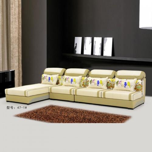 新款小户型时尚可拆洗L型布艺沙发47-1#