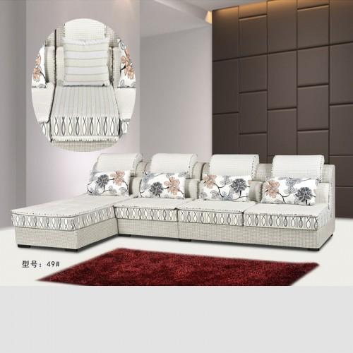 客厅小户型现代L型布艺沙发转角沙发尺寸定制49#