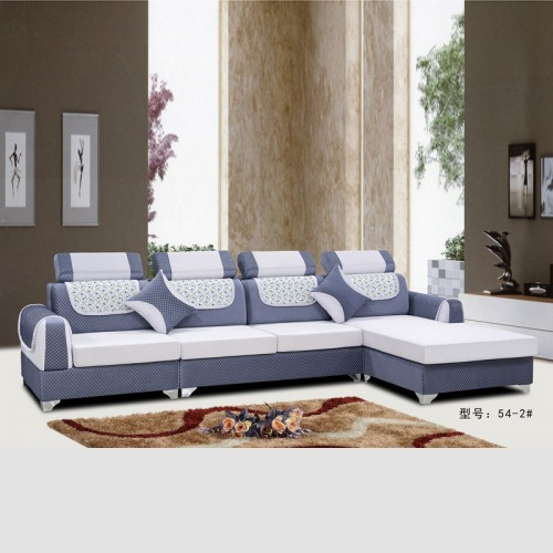 休闲布艺沙发 客厅转角沙发低价销售 54-2#